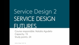 Thumbnail for entry Design - Service Design 2 - Service Design Futures