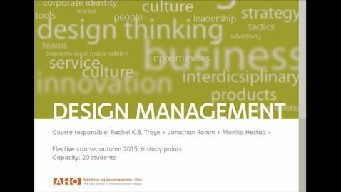Thumbnail for entry IDE - Design Management