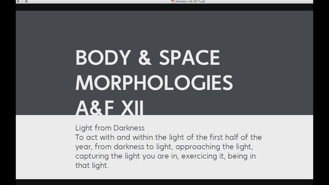 Thumbnail for entry ARK - Body & Space Morphologies - Catharsis