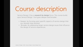 Thumbnail for entry Design - Service Design 2