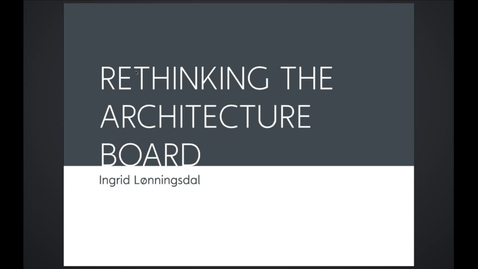 Thumbnail for entry FTH - Rethinking the Architectural Board