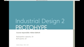 Thumbnail for entry IDE - Industrial Design 2 - Protohype