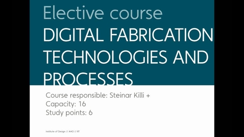 Thumbnail for entry ALL - Digital Production Technologies