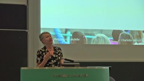 Thumbnail for entry Samarbejde i og om hverdagens skoleliv - Charlotte Højholt