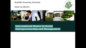 Thumbnail for entry Professor Roger Spear: Introduction to MA in Social Entrepreneuship and Management