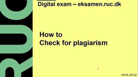 Thumbnail for entry How to Check for plagiarism