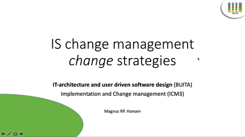 Thumbnail for entry BUITA15 - ICM3 - Vid7_ChangeStrategies