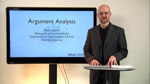 Thumbnail for entry Sune Lægaard talking about argument analysis