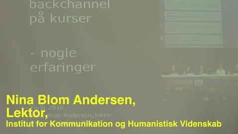 Thumbnail for entry Nina Blom; Pædagogisk Torsdag: Teknologier, der understøtter læring i undervisning og vejledning.
