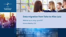 Thumbnail for entry Datamigration, Kimmo Mattila, 19112019  .mov