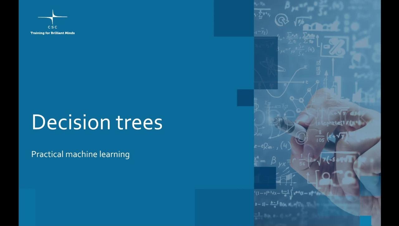 Video 9 – Decision trees.mov
