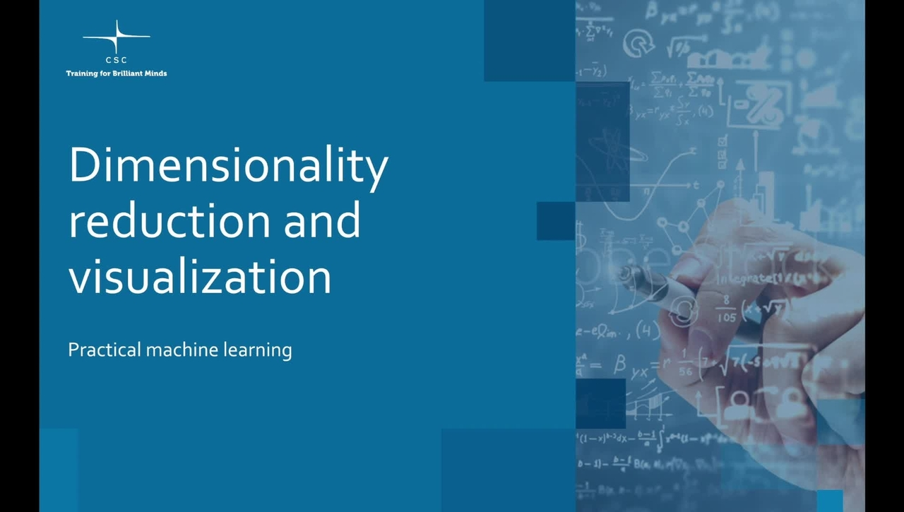 Video 11 – Dimensionality reduction and visualization.mov