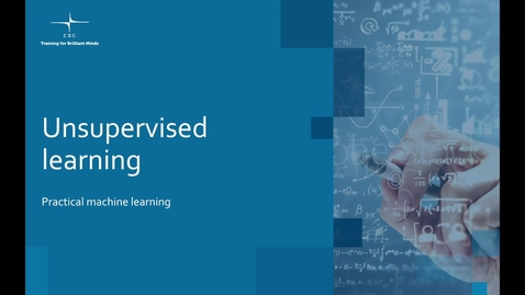 Thumbnail for entry Video 12 – Unsupervised learning.mov