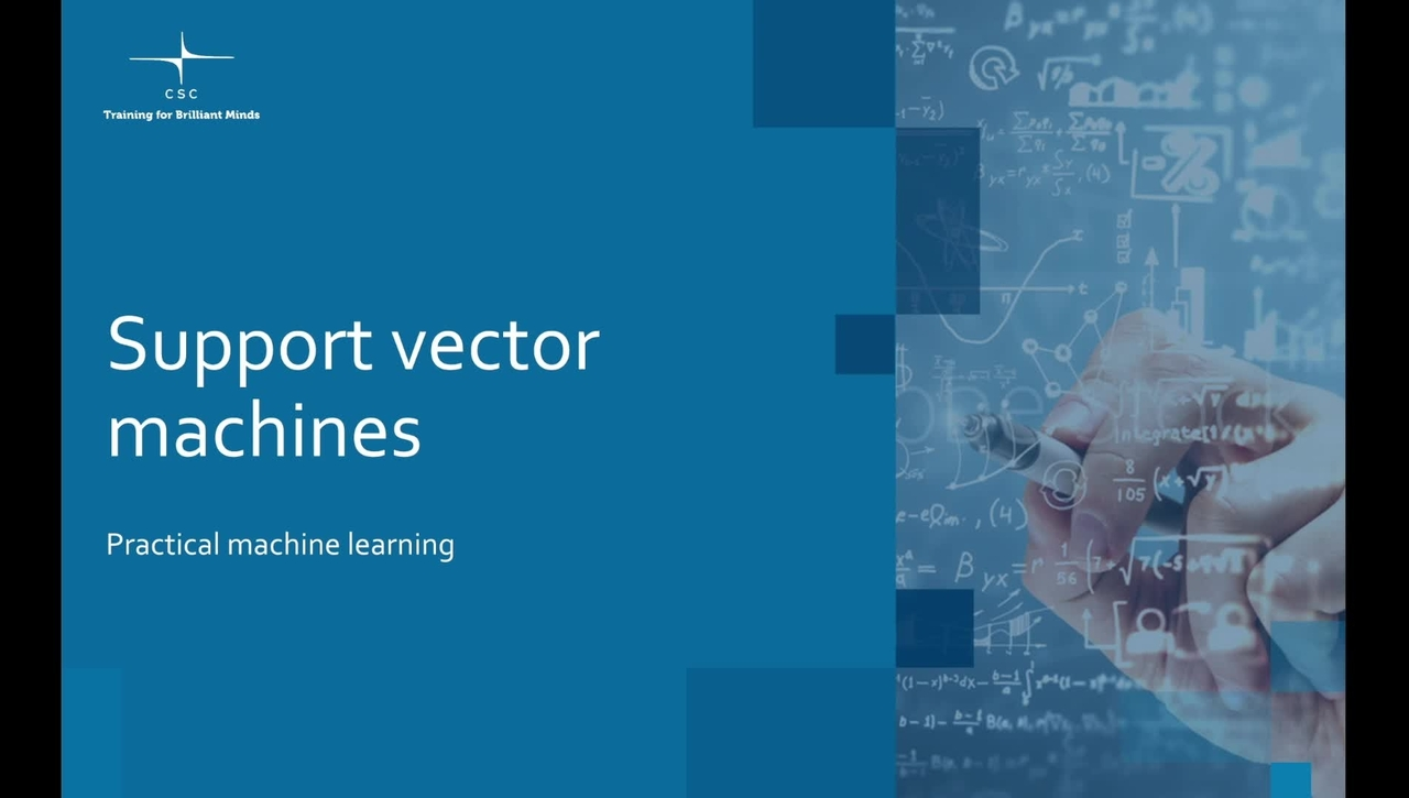 Video 8 – Support vector machines.mov