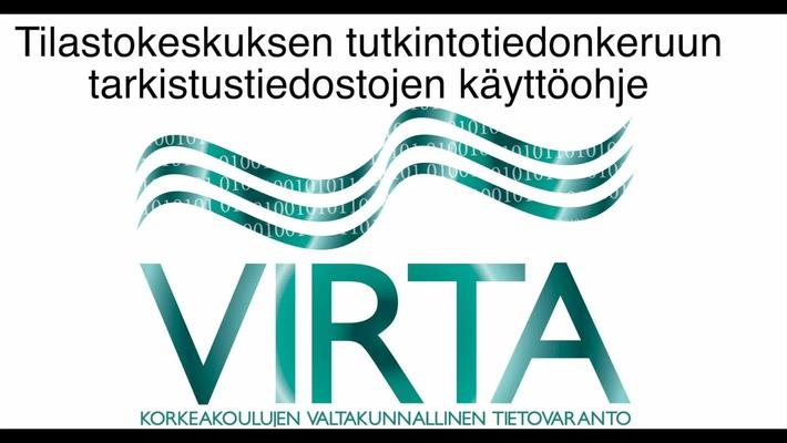 VIRTA - Tutkintotiedonkeruun tarkistustiedostojen käyttö Excelissä