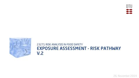 Thumbnail for entry Exposure Assessment - Risk Pathway V.2
