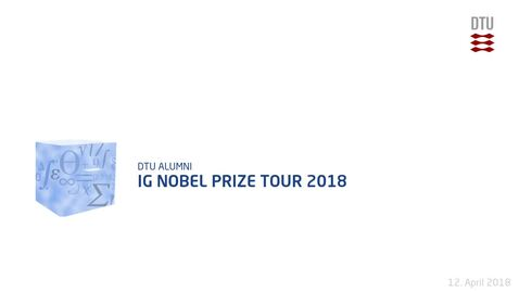 Thumbnail for entry Ig Nobel Prize Tour 2018