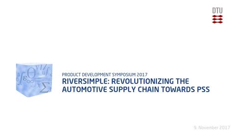 Thumbnail for entry Riversimple: revolutionizing the automotive supply chain towards PSS