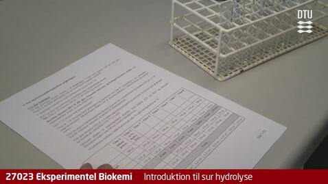 Thumbnail for entry Glycogenøvelsen 6: Introduktion til sur hydrolyse
