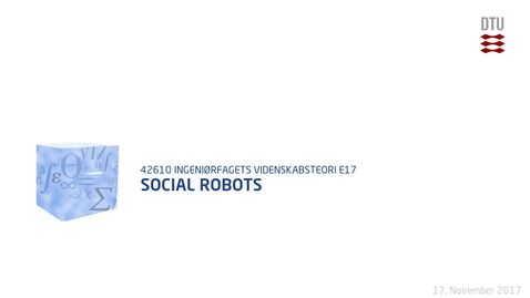 Thumbnail for entry Social Robots