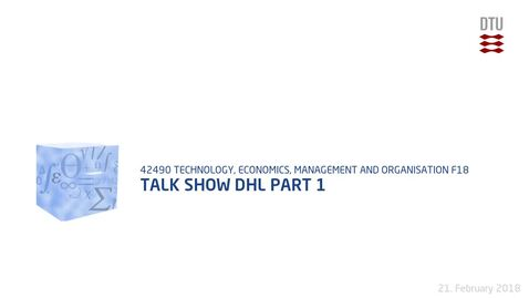 Thumbnail for entry Talk Show DHL Part 1