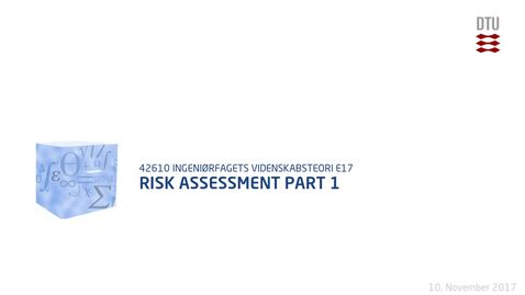 Thumbnail for entry Risk Assessment Part 1