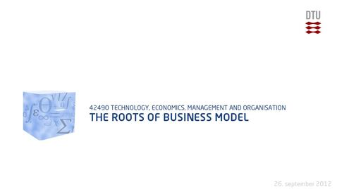 Thumbnail for entry The roots of business model