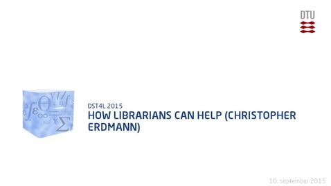 Thumbnail for entry How Librarians Can Help (Christopher Erdmann)