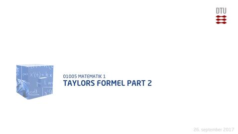 Thumbnail for entry Taylors Formel part 2