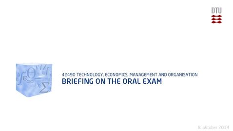 Thumbnail for entry Briefing on the oral exam