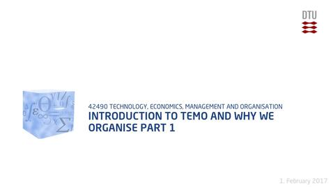 Thumbnail for entry Introduction to TEMO and why we organise Part 1