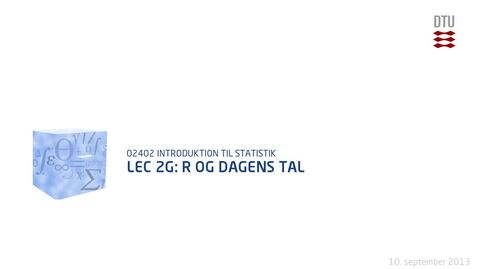 Thumbnail for entry Lec 2G: R og dagens tal