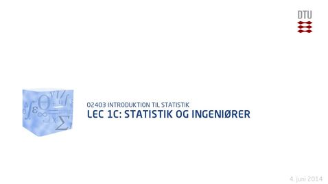 Thumbnail for entry Lec 1C: Statistik og Ingeniører