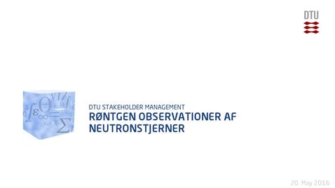 Thumbnail for entry Røntgen observationer af neutronstjerner