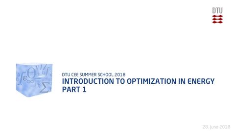 Thumbnail for entry Introduction to optimization in Energy Part 1