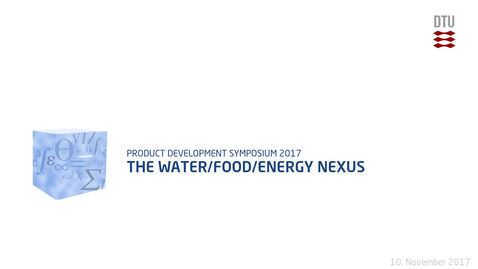 Thumbnail for entry The Water/Food/Energy Nexus