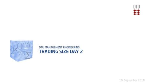 Thumbnail for entry Trading Size Day 2