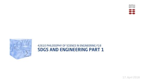 Thumbnail for entry SDGs and Engineering Part 1