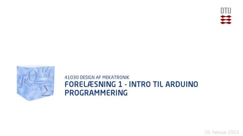 Thumbnail for entry Forelæsning 1 - Intro til Arduino programmering (480p)