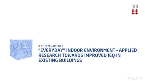 "Thumbnail for entry ""Everyday"" indoor environment – applied research towards improved IEQ in existing buildings"