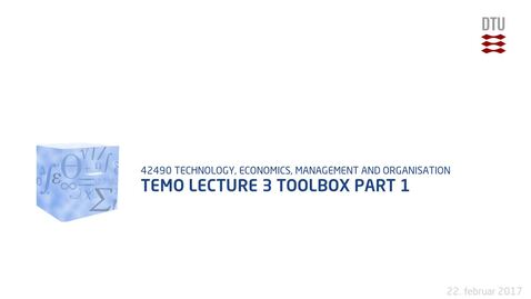 Thumbnail for entry TEMO Lecture 4 Toolbox Part 1