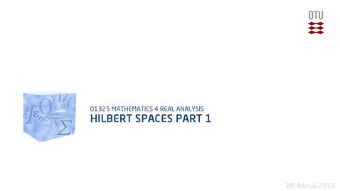 Thumbnail for entry Hilbert Spaces part 1