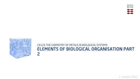 Thumbnail for entry Elements Of Biological Organisation Part 2