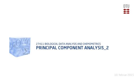 Thumbnail for entry Principal Component Analysis_2