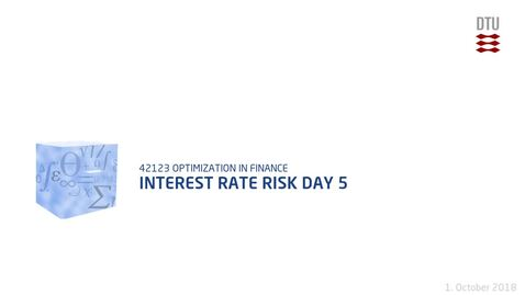 Thumbnail for entry Interest rate risk Day 5