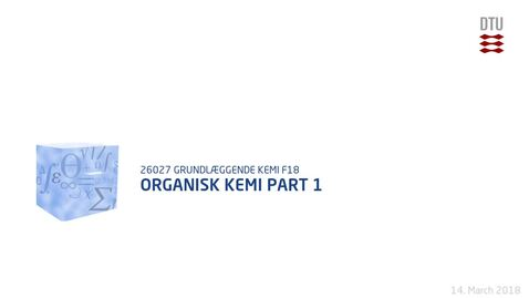 Thumbnail for entry Organisk Kemi Part 1