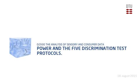 Thumbnail for entry Power and the five discrimination test protocols.