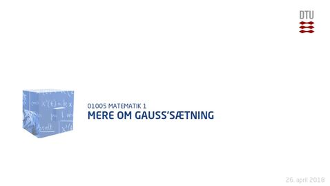 Thumbnail for entry Mere om Gauss'sætning