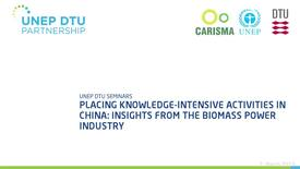 Thumbnail for entry Placing knowledge-intensive activities in China: insights from the biomass power industry - With Questions