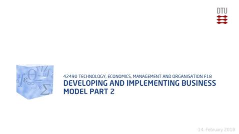 Thumbnail for entry Developing and Implementing Business Model Part 2